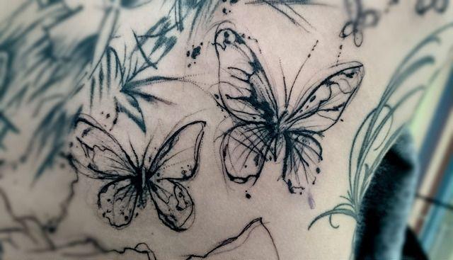 #tattoo #trash #butterfly #schmetterling #sketch #skizze