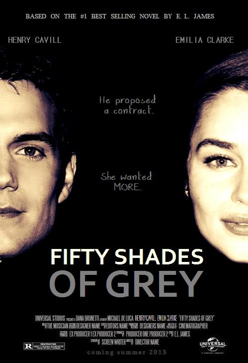 Henry Cavill And Emilia Clarke As Christian Grey And