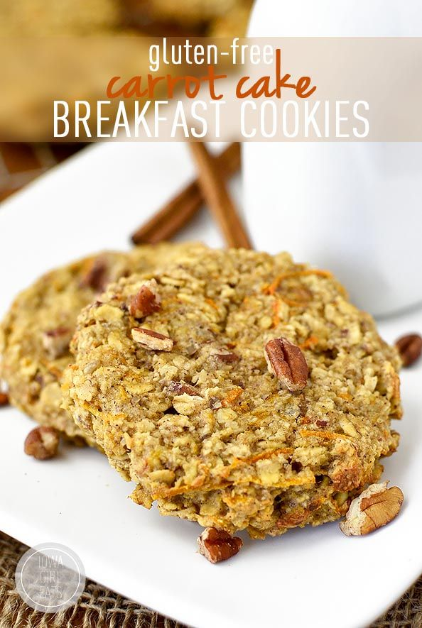Gluten-Free Carrot Cake Breakfast Cookies are packed with good-for-you ingredients and are ready in just 20 seconds out of the freezer!   iowagirleats.com