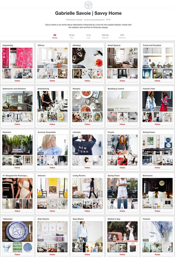 Savvy Home - 10 design accounts to follow on Pinterest