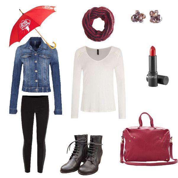 Outfit VIERNES LLUVIOSO Lluvia, frio, viernes, chaqueta, bufanda, botas, invierno en Colombia