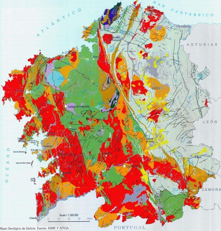 Mapa geologico de galicia