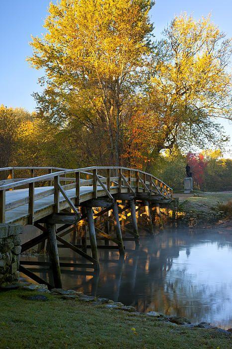 Dawn over historic Old North Bridge, Concord Massachusetts, USA © Brian Jannsen Photography