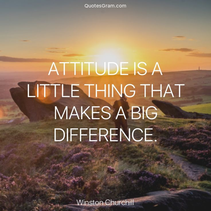 """Quote of The Day """"Attitude is a little thing that makes a big difference."""" - Winton Churchill http://lnk.al/4FtZ"""