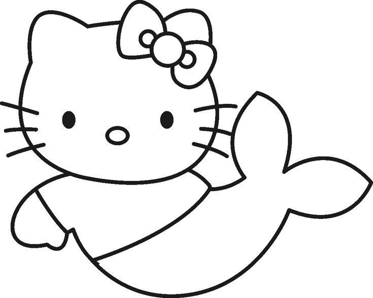 Cute Hello Kitty Christmas Coloring Pages