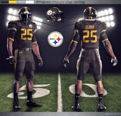 bcd6efb2563c Pittsburgh Steelers Concept Home Uniform