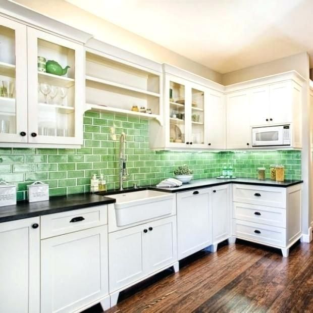Elegant Blue Green Backsplash 21 Glass Tile Kitchen Green