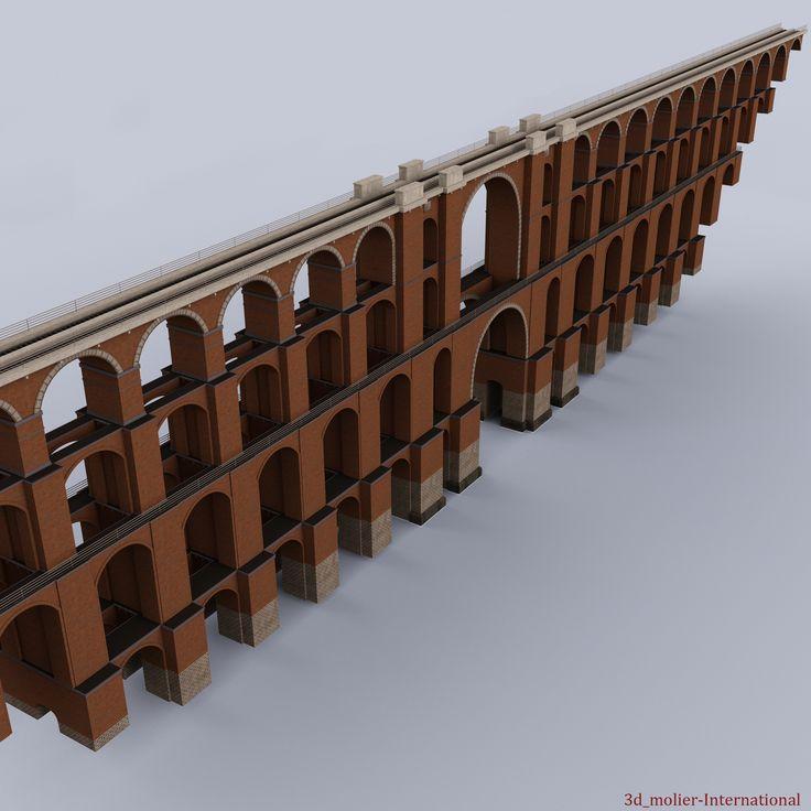Goltzsch Viaduct German Railway 3d model http://www.turbosquid.com/FullPreview/Index.cfm/ID/893183?referral=3d_molier-International