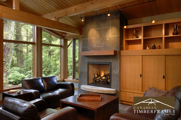 enjoy a family fireside chat in a room like this