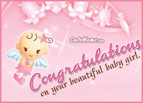 congratulations on your beautiful baby girl graphic plus many other high quality graphics for your facebook profile at cafem