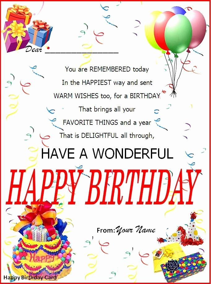 Birthday Party Invitation Templates Word In 2020 Happy Birthday