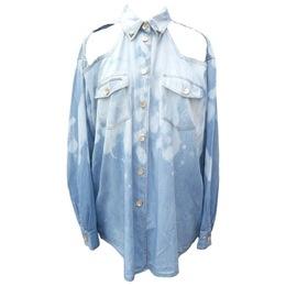 Snowstorm Denim Cut-out Shirt