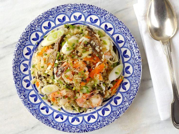 Κινόα με γαρίδες και λαχανικά