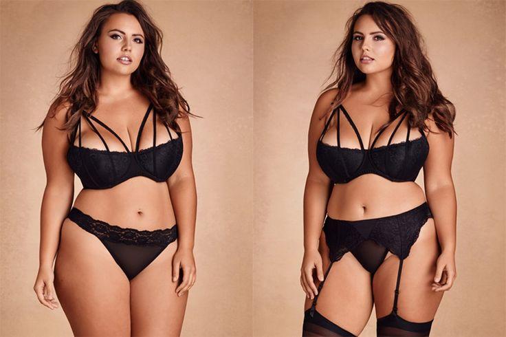 #PlusModelMag Plus Fashion Find: Mila Strappy Shelf Bra at Hips & Curves #PLUSmodelmag