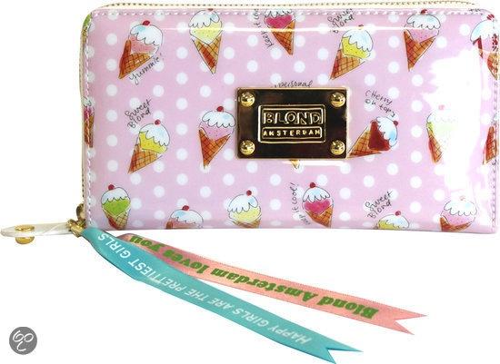 Blond Amsterdam ijsjes roze-Portemonnee