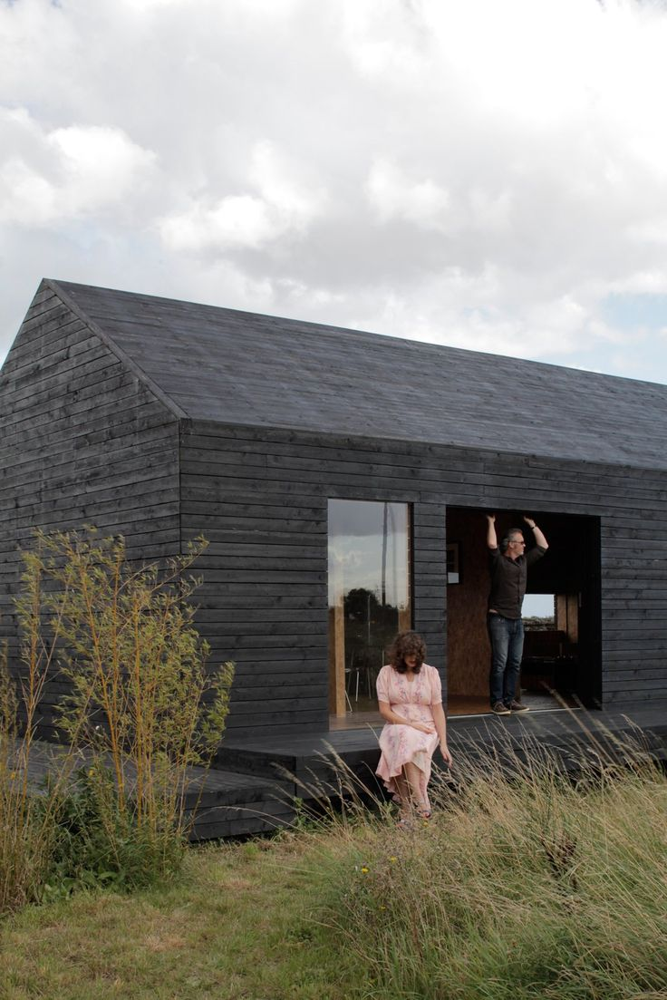 Dwell - A Pair of English Barns Hide Unabashedly Bold and Budget-Friendly Minimalist Interiors