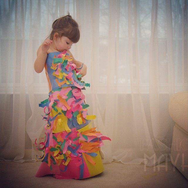 4 Yaşındaki Modacıdan Fantastik Kağıt Elbiseler - Angie Keiser'in küçük kızlar için büyük fikirlerle tasarladığı rüya gibi koleksiyonu...