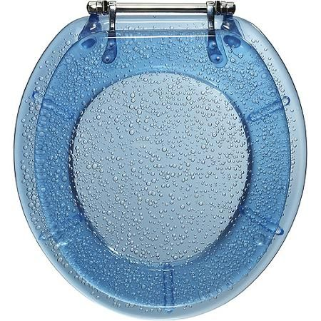 Blue Bubbles Deluxe Plastic Resin Toilet Seat