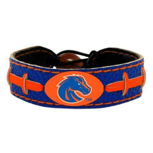 NCAA Boise State Broncos Team Color Football Bracelet