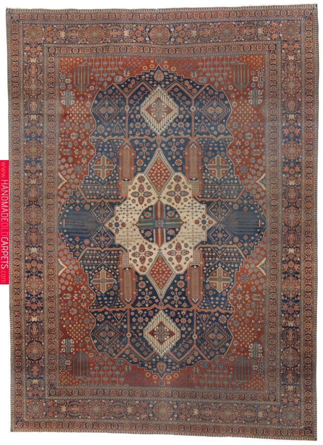 Mohtashem Kashan Carpet Central Persia Approximately 14ft 3in By 10ft 5in 4 34 By 3 17m Late 19th Century Halilar Hali Desenler