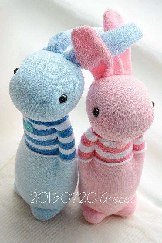 Grace--#210+#211 Sock Domy Rabbit