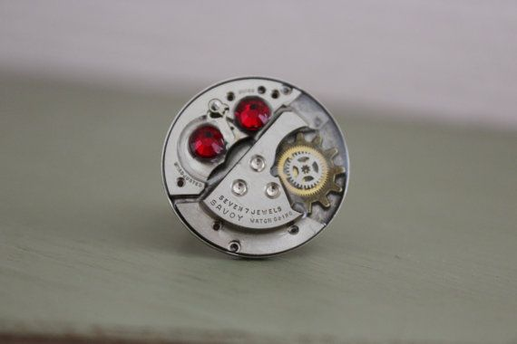 Bague montre ancienne mécanisme style steampunk 7 par SteampAddict, $35.00