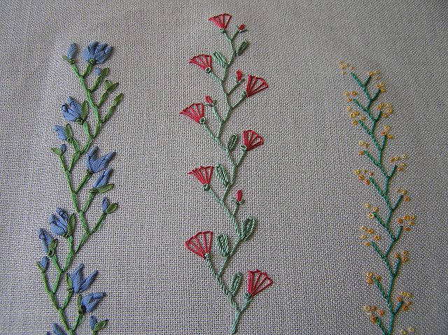 I ❤ embroidery . . . some stitching that makes crazy quilting so beautiful . . . feather
