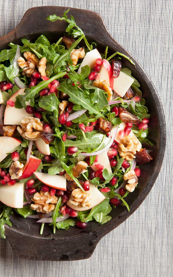 Pomegranate, Apple and Date Salad.                                                                                                                                                                                 More
