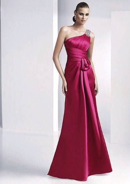 vestidos de damas de honor color fiusha - Buscar con Google