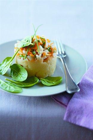 « Parmentier » de haddock au céleri - Larousse Cuisine