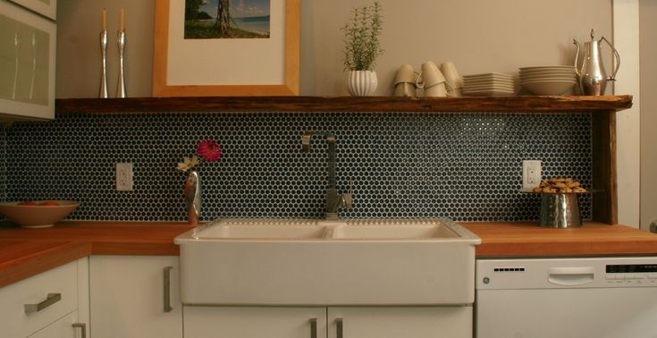 Moddotz Tardis Blue Porcelain Tile Penny Rounds The O 39 Jays Porcelain Tiles And Kitchen Backsplash