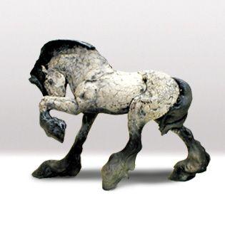 Raku horse, from rittersculptures.com,  via Stonefinder