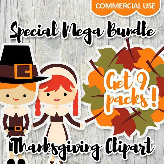 Thanksgiving clipart bundle sale / Thanksgiving clip art