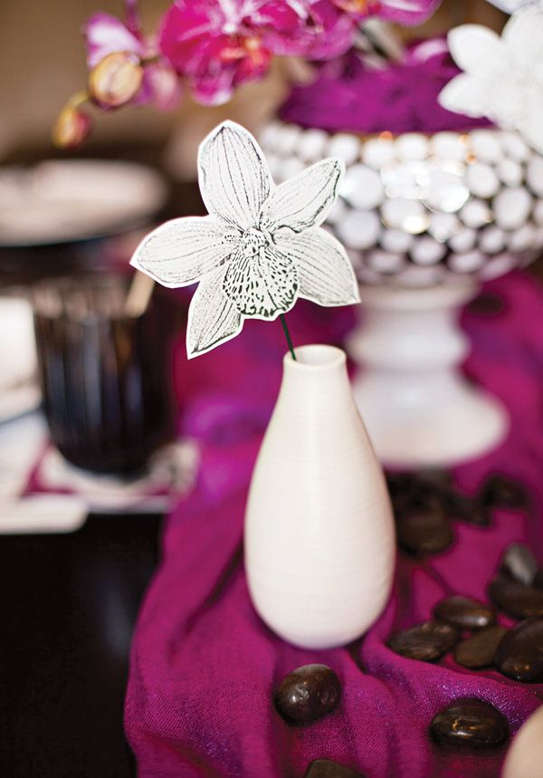 Paper Orchid Table Decoration