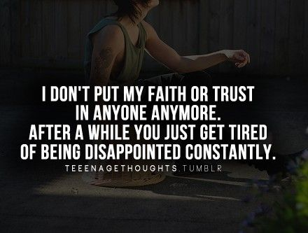 So true..I now only have faith and trust in Allah..he knows my hear and intentions and that's all that matters to me now..