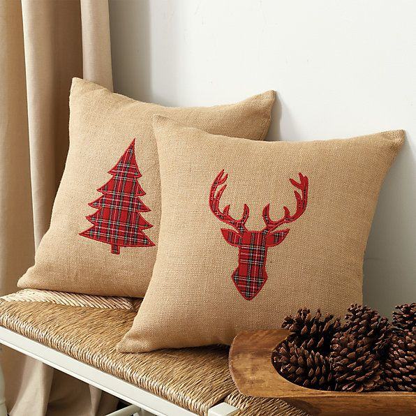 Throw Pillows Ballard Design : 17 Best images about christmas pillows on Pinterest Applique pillows, Cotton linen and ...