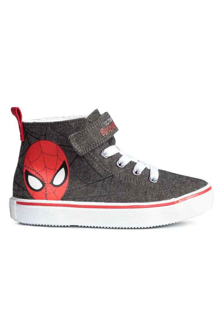 Zapatillas deportivas altas - Gris oscuro/Spiderman - | H&M ES 1