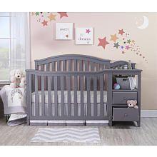 sorelle berkley 4in1 convertible crib and changer grey - Gray Baby Cribs