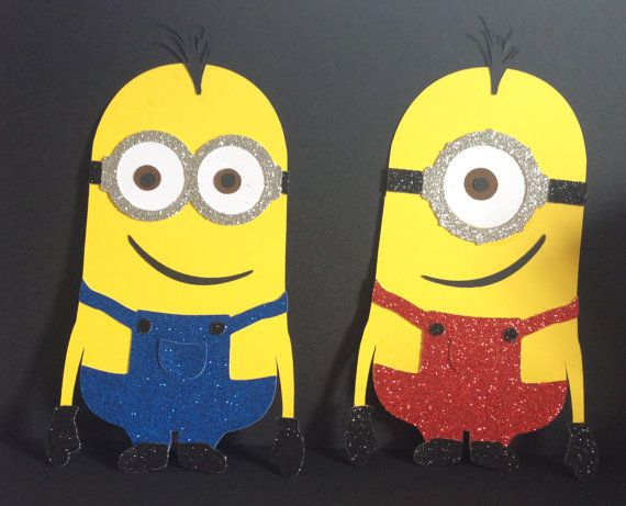 Glitter Minion Die Cuts For Invitations By Leslisdesigns