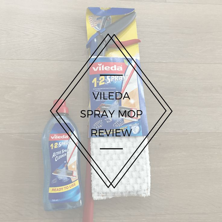 I've been Reviewing the Vileda Spray Mop. It's a great lightweight mop for cleaning on the go.