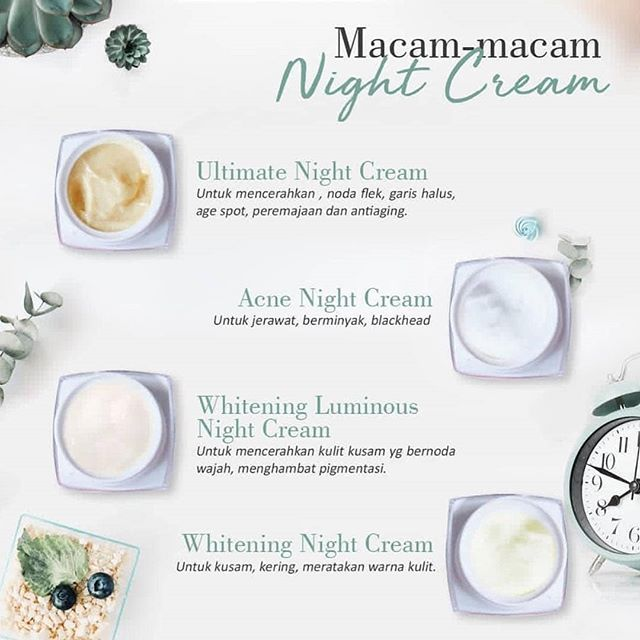 Night Cream Untuk Kulit Jerawat