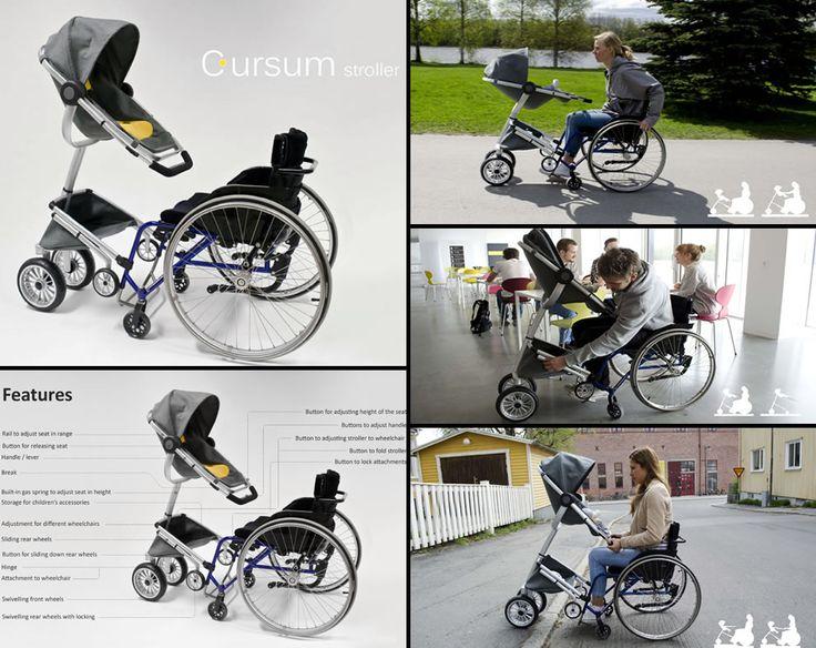 Cursum An Innovative Stroller For Wheelchair Users