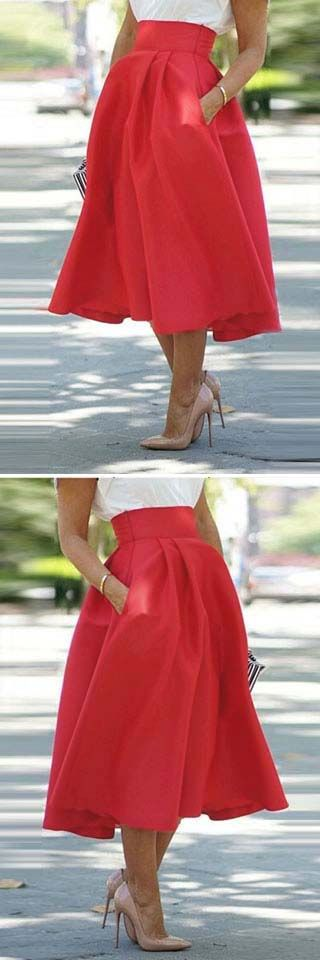 This skirt is the definition of a closet staple.Three strikes and you're on fire.Get it at cupshe.com