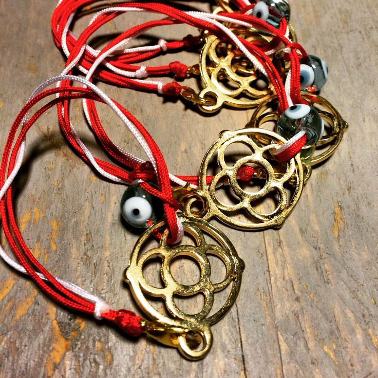 Hello March! Traditional red & white strings to protect you from the early spring summer!