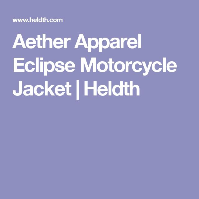 Aether Apparel Eclipse Motorcycle Jacket | Heldth