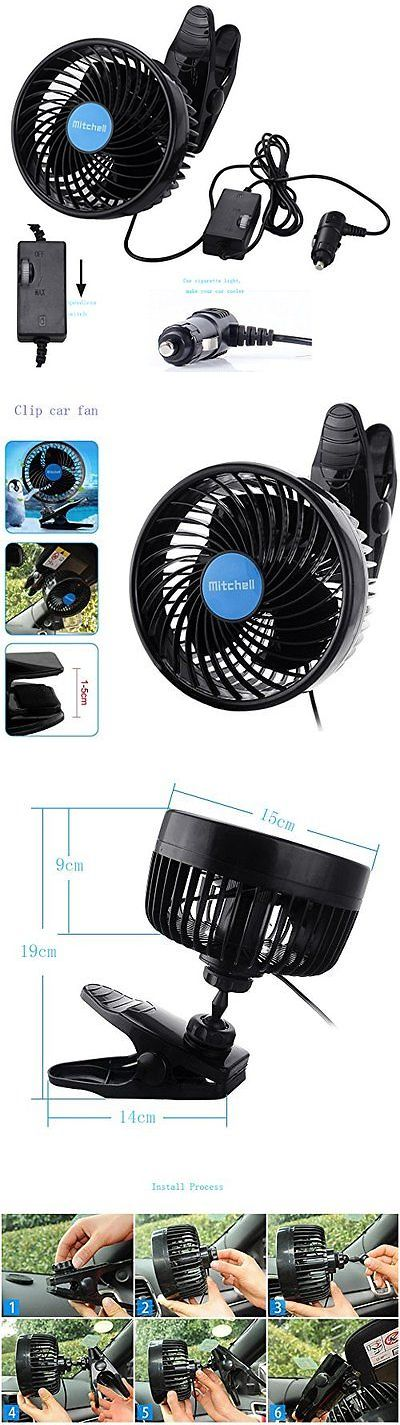 12-Volt Portable Appliances: Car Clip Fan Vehicle Cooling Powerful Quiet Speedless Ventilatior For Summer -> BUY IT NOW ONLY: $33.99 on eBay!