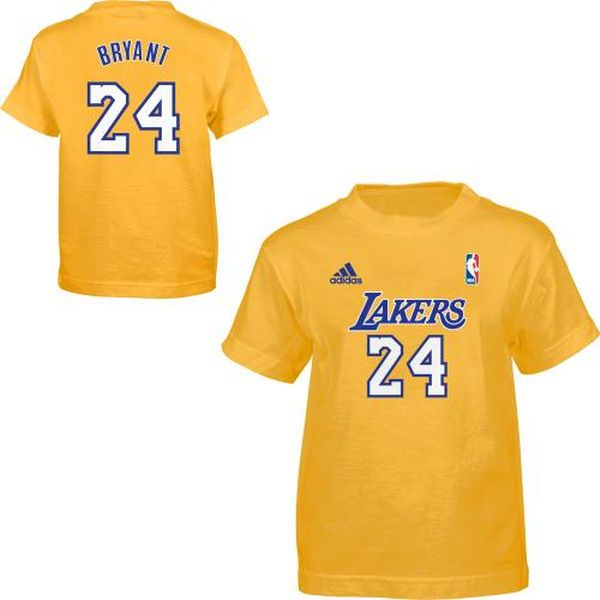 adidas Los Angeles Lakers Kobe Bryant Toddler Game Time T-Shirt - $17.99