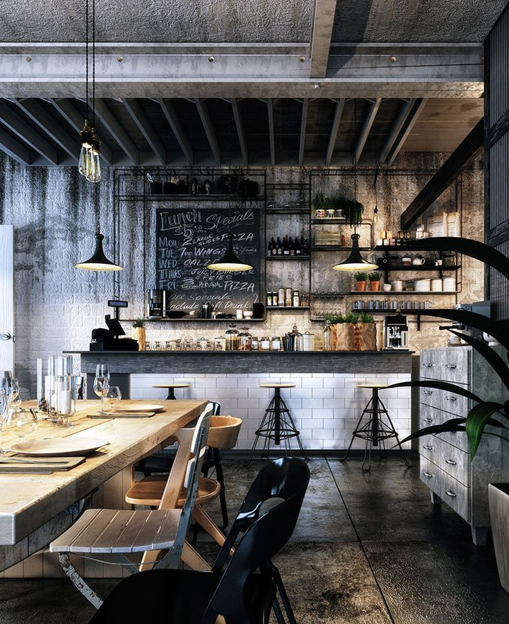 Bar Interior Design: Best 25+ Loft Cafe Ideas On Pinterest