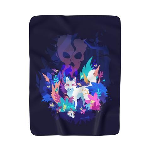 Fox of the Dream Forest Fleece Blanket