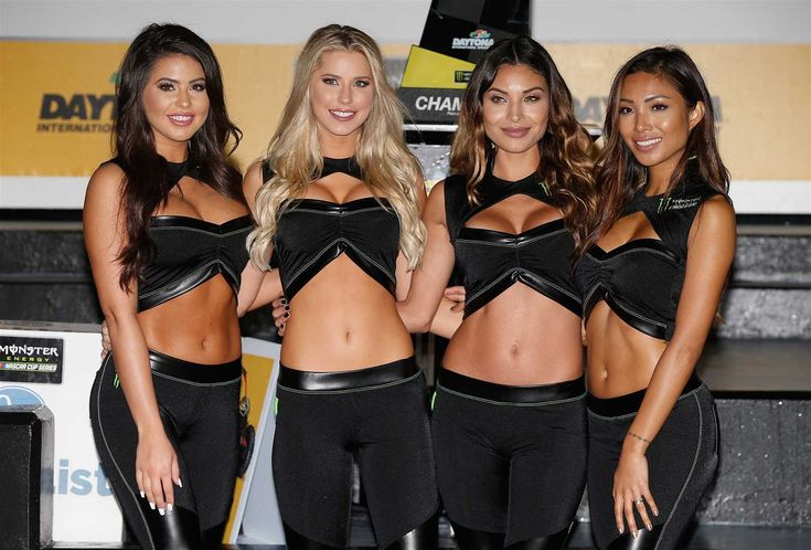 Monster Energy at the track: Daytona 500 weekend  Sunday, February 26, 2017  Monster Energy Girls pose in Victory Lane after Thursday night's Monster Energy NASCAR Cup Series Can-Am Duel 2 at Daytona International Speedway.  Photo Credit: Getty Images